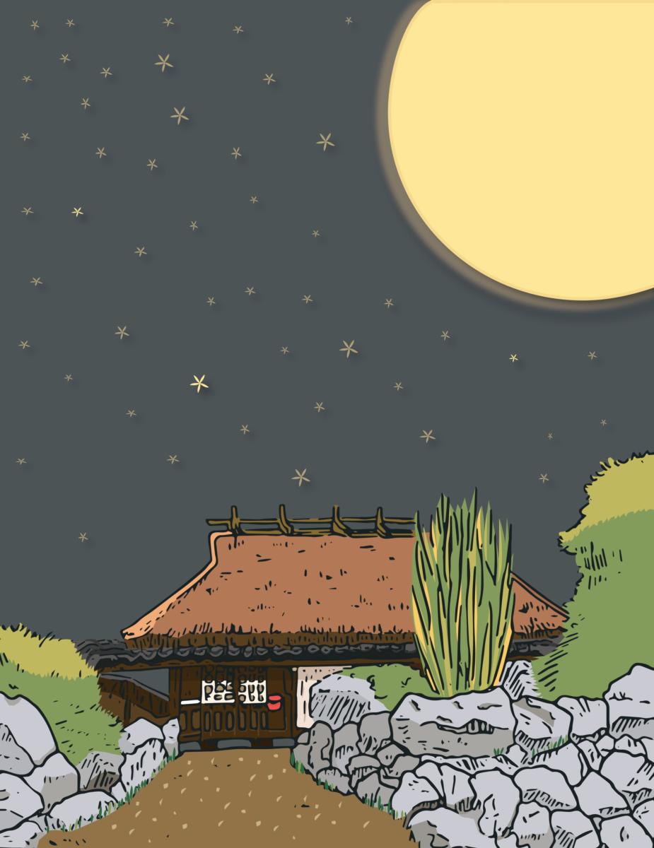 藁葺き屋根の家